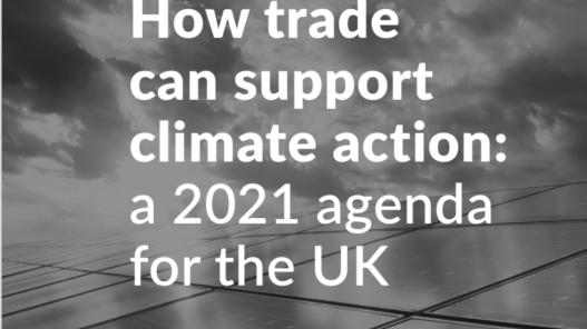 Front Cover Policy Briefing Trade And Climate