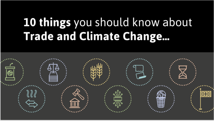 Ten things you should know about Trade and Climate Change
