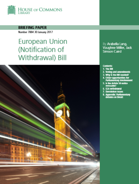 European Union (Notification of Withdrawal) Bill