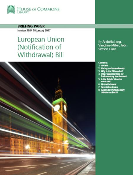 European Union (Notification of Withdrawal) Bill