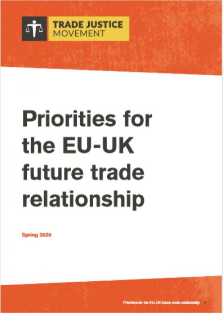 Priorities for the EU-UK future trade relationship