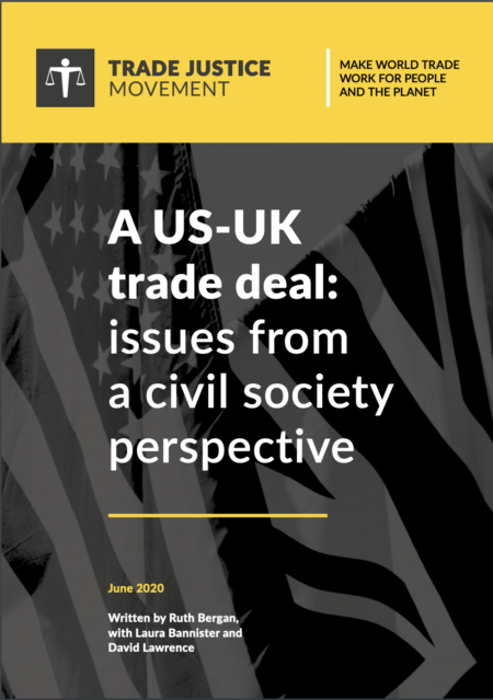 A US-UK trade deal: issues from a civil society perspective