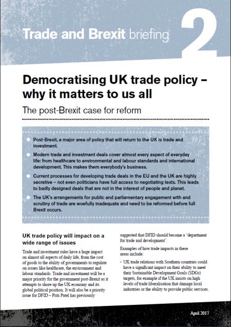 Democratising UK Trade Post-Brexit
