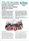 Global Justice Now's Guide to CETA