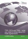UNISON Briefing on CETA, TTIP and TISA